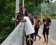Daredevils (mikecogh) Tags: espiritusanto santo luganville bridge daredevils jumping brave fearless youth teenagers group cool