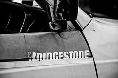 Old sticker (deumter) Tags: indonesia jakarta bridgestone car vintage