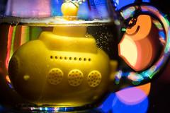 Yellow Submarine (HMM) (matthiasstiefel) Tags: beatles beatlesbeetles bokeh chrismas macromondays nikon105mmf28 tea teaegg teainfuser teasub yellowsubmarine glass teeei teesieb