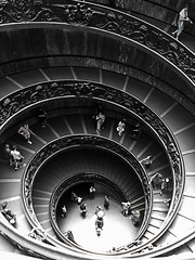 Vatican City Interior (ArrowheaDesign) Tags: arrowheadesign italy nikond80 nikon d80 interior abstarct architecture spiral 18135mm rome composition shadow people vatican city