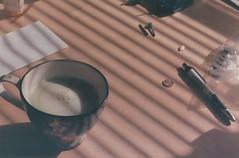 matcha tea mornings (savvysue2) Tags: film 50mm tea teacup