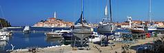 Rovinj (Vid Pogacnik) Tags: croatia hrvatska istria istra hiking biking outdoor landscape rovinj town coast sea boat ship panorama