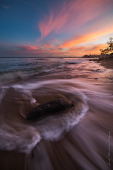 **Number 10** (damian.mccudden1) Tags: landscapes nature seascapes fineart australia qld sunshinecoast canon samyang sunset light colourful sky rocks water flow kingsbeach top10 autumn pink clouds