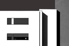 White,Black,Abstract,Lines, (JanNiezen) Tags: white black lines architecture windows curtains