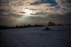 Paprsek svtla (monty1511) Tags: flash sun sunny landscape winter cottage hut trees sky zima canon chata