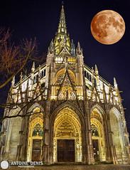 Rouen, Eglise Saint-Maclou (tione76) Tags: saint maclou eglise rouen nuit night landscape long exposure exposition longue nikon d5300 moon lune toiles stars normandy normandie tione76 france church colours colors couleurs