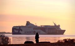 Passing by (samikahkonen) Tags: helsinki finland suomi ecker sea baltic itmeri boat ship people capital urban nature