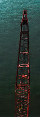 over the dead lift (pbo31) Tags: sanfrancisco california city bridge summer urban panorama color green water bay construction nikon lift crane over large august panoramic baybridge bayarea d200 stitched 2015 boury 2013 pbo31 easternspan