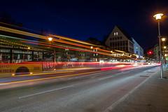 Bus light trail (ShimmyGraphy) Tags: auto street light bus de deutschland stream long exposure track time lichter tübingen badenwürttemberg 2015 strase lichtspur langzeitbelichung shimmygraphy