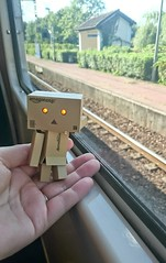I swear, I saw another Danbo ! (Pullip au sucre ) Tags: voyage travel travelling train rer danbo voyageur danboard