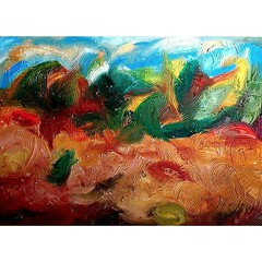 Dias tristes... (2009, Exposição não cinematográfica, #lemontree, עץ לימון)  #painting #abstractart #arts #mafo