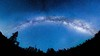 MilkyWay Panorama In San Pedro Martir Mexico (Eliud92) Tags: blue sky panorama mountain night forest landscape star noche nikon san angle wide paisaje pedro galaxy bosque astrophotography cielo galaxia noght martir estellas