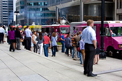 Food Truck Lineup on Wacker Drive 7905 (www.cemillerphotography.com) Tags: chicago feast wagon bread spread illinois downtown feeding eating lunchtime meal chow snacks van rations crowds fare grub refreshments customers fodder vittles edibles sustenance nourishment provisions victuals repast viands provender