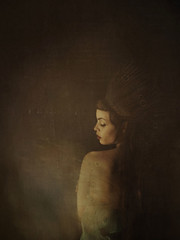 tales whisperer (janine_machiedo_photography) Tags: woman selfportrait dark wings fineart surreal fairy crown magical selfportraiture fineartphotography