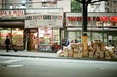 boxes (september.) Tags: street nyc newyorkcity film 35mm bronx boxes kingsbridge canonae1 canonfd50mmf14 canonfd kodakportra400