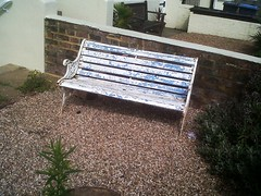 Bench Life - Deal, Kent UK (jcbkk1956) Tags: blue white garden bench kent peeling paint deal flaking