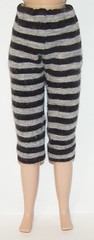 Thin Striped Black And Gray Capri Pants For Blythe...