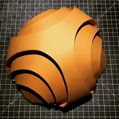 (mike.tanis) Tags: sculpture art architecture paper design origami structure curved papercraft maquette curvedfolding