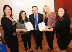 Jane Donaldson from Watson & Co. Chartered Marketing and Nicola Bothwell from NB Chartered Marketing receive their People 1st Digital Business Skills certificates