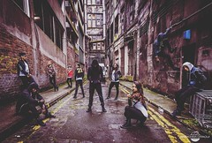 Enter the darkness... introducing the #insanefamily ©BouchraDraouiPhoto @NikonBelgique #dancecrew #photogroup #urbex #Glasgow #nikonphotography