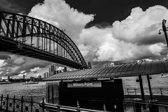 DSC02273 (Damir Govorcin Photography) Tags: bridge water monochrome birds point boats blackwhite harbour sony sydney milsons a6000