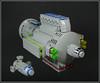 The 'Tiny Ted' and Escort (Karf Oohlu) Tags: lego spaceship bulkcarrier moc cargoship microscale microspacetopia escortcruiser