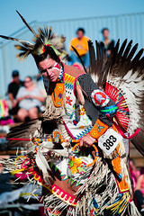 All in Color (Katoptris) Tags: lighting light summer portrait orange man color male guy wisconsin outside dance clothing nikon dress dancing natural native action candid indian traditional feathers feather clothes american milwaukee 2015 d3100 nikond3100