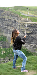 Dangerous Selfies on the Unstable Ground on the Cliffs of Moher (albatz) Tags: ireland warning cliffs cliffsofmoher unstable