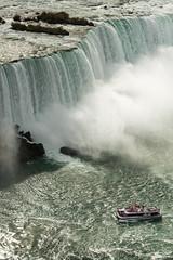 Niagara Falls - View from Skylon Tower (Kaweeno) Tags: niagarafalls boat skylontower rivercruise niagarariver hornblower