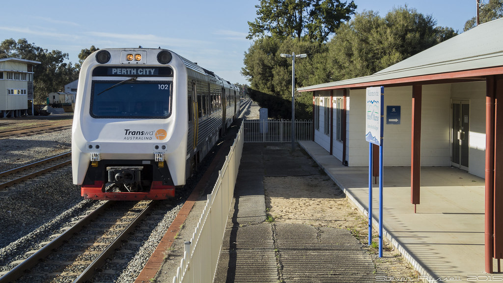 how to get to perth city farm by train