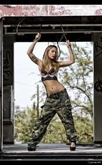 Jóvenes Guerreras XII - 5/6 (Pogdorica) Tags: españa tren ana retrato guerra modelo militar estacion sesion mili soldado uniforme abandonada
