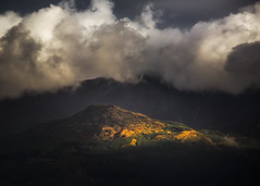 Spotlight (Vemsteroo) Tags: morning autumn light mountain nature clouds sunrise canon landscape lakedistrict scenic dramatic cumbria vista 5d cloudscape skiddaw 70200mm mountainscape mkiii circularpolariser latrigg leefilters