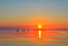 Stand up paddle. (jas22dav) Tags: travel sunset sea summer vacation sky sun seascape color sunshine landscape boat amazing nikon colorful europe outdoor sunny slovenia land