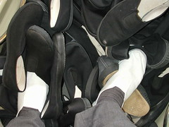 Bath Load of black slip-on plimsolls (eurimcoplimsoll) Tags: school black shoes pumps sneakers canvas collection gym plimsolls gymshoes daps plimsoles
