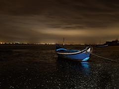 In the night ... (JG - Instants of light) Tags: sky portugal water gua night clouds tide cu colores nuvens noite ria aveiro mar torreira