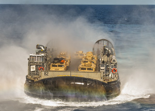 An LCAC embarks USS Essex.