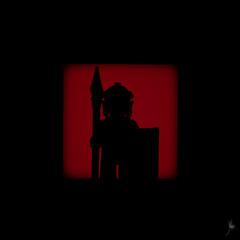 Shadow (245/100) - Roman Soldier (Ballou34) Tags: 2015 650d afol ballou34 canon eos eos650d flickr lego legographer legography minifigures photography rebelt4i stuckinplastic t4i toy toyphotography toys rebel stuck plastic 2016 photgraphy blackwhite light shadow enevucube minifigure 100shadows roman soldier shield spear