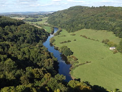 River Wye and Coppet Hill from Symonds Yat Rock, Gloucestershire, 22 September 2016 (AndrewDixon2812) Tags: symonds yat river wye valley herefordshire gloucestershire coppet coppett hill goodrich