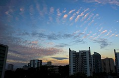 Sundown in Singapore (jeremyhughes) Tags: outdoor cloud clouds skyline sky dusk sunset singapore city cityscape nikon d7000 nikkor 20mm 20mmf28d evening weather yesterday gloaming