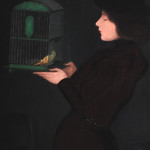 RIPPL-RÓNAI József ,1892 - Femme à la Cage (Budapest) - Detail -a thumbnail