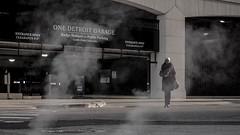 Detroit Steam (Billy Woolfolk) Tags: olympus omd em1 microfourthirds mft m43 detroit streetphotography michigan steam drama        strobist strobe flash yongnuo