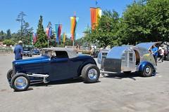 52nd Annual LA Roadsters Show (USautos98) Tags: 1932 ford roadster camper trailer hotrod streetrod custom laroadsters