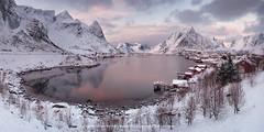 Simply Lofoten (sgsierra) Tags: lofoten norway nieve snow cabin red cabañas lago fiordo