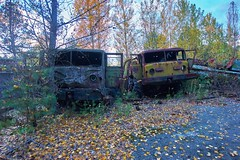 Vehicle Dump-(Chernobyl Exclusion Zone)_4 (Landie_Man) Tags: none vehicle car truck van tank minesweeper lorry radioactive radiation clean up liquidator liquidation chernobyl heros heroes pripyat scrap scrapped junk dumped transport transportation the zone exclusion ussr ccp cccp soviet union ukraine metal harvesting trash dead looted