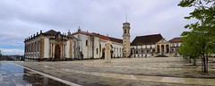 The old Coimbra University square on a rainy day (Bn) Tags: coimbra historic river mondego alley street strolling cathedral glory churches roman university eaminium cultural serene monasteries neighbor upper town kings hills heritage exploring city romantic students sevelha old buildings beauty steep window tower universidadedecoimbra shadows holiday vacation labyrinth lanes hotel astria igrejadesodomingos sbartolomeu torredeanto snovadecoimbra unesco world list uc clouds rain roofs palciodosgrilos capeladesomiguel bibliotecajoanina universidade 50faves topf50