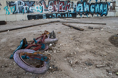 The Wreck Of The Year (Fly Sandman) Tags: fspe fourstatesphotographyenthusiasts bicycle wrecked neglected uniondepot modelshoot abandoned graffiti perspective pointofview