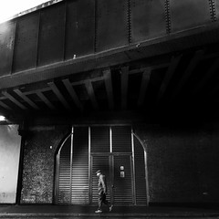 London Tales| Vauxhall (Nassia Kapa) Tags: gloomy grey window walking passenger bw trainstation vauxhall londontales london nassiakapa
