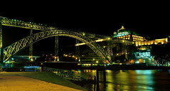 Ponte Lus I (chemakayser) Tags: oporto porto portugal pont bridge river rio duero night