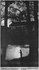 Fishing at the municipal pond, 1975 (Ereiss1) Tags: vintage eastbrunswick nj