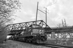 Jersey Priority (sullivan1985) Tags: newjersey nj freight freighttrain railroad railway jerseycity hudsoncounty 21m ns norfolksouthern ge generalelectric d940cw ns9434 ns8982 ns9592 cphack pulaskiskyway westbound intermodal containers cloudy thanksgiving holiday
